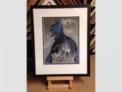 Original pen and ink drawing of Batman