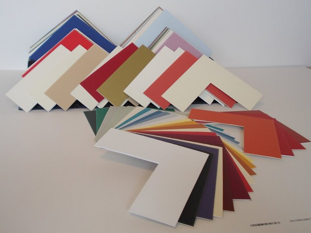 A large selection of mount boards colours.