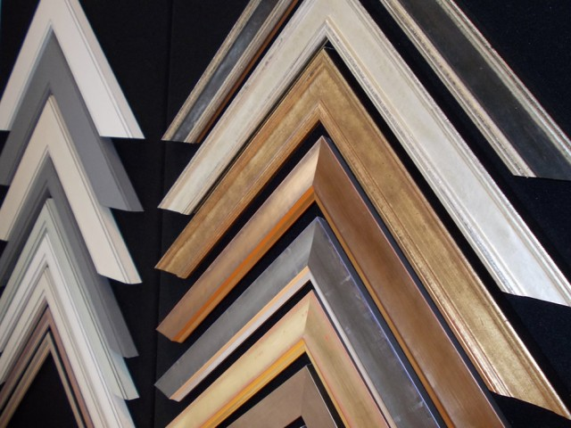 Close-up of Mirror Frames.