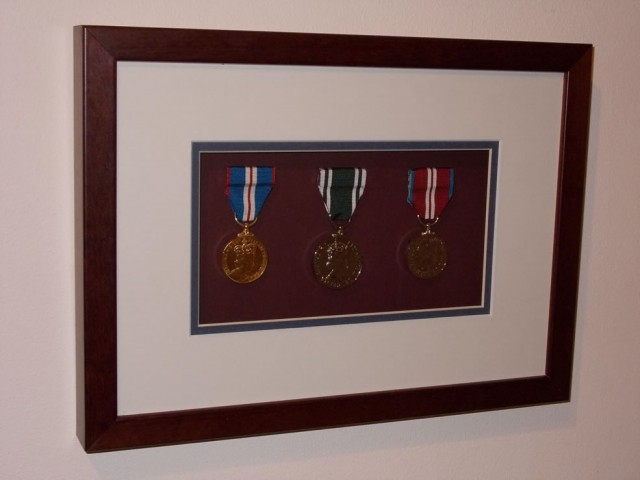 Military Medals in a Box Frame.