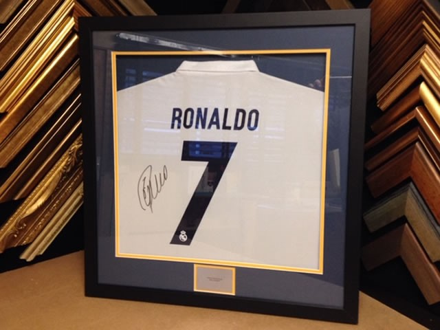 Signed Real Madrid shirt by world player of the year Ronaldo!